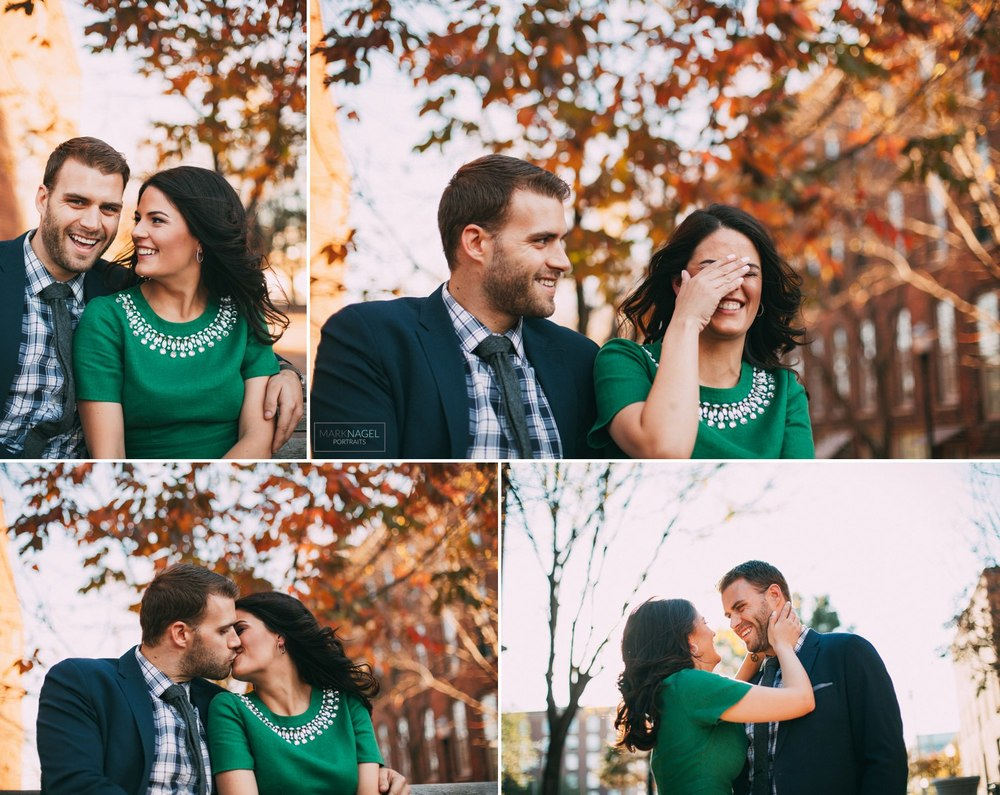 engagement photo session river market kansas city