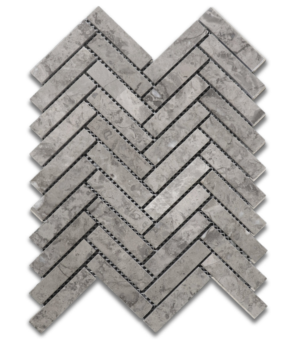 Sage Gray Herringbone