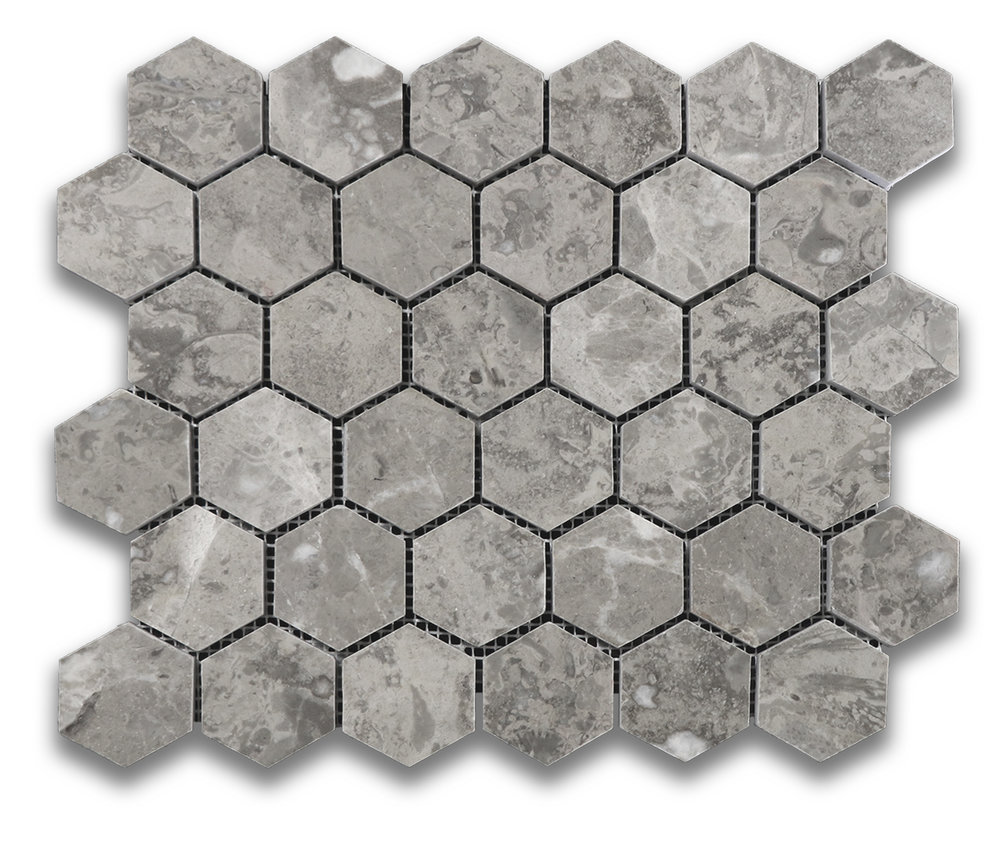 Sage Gray Hexagon