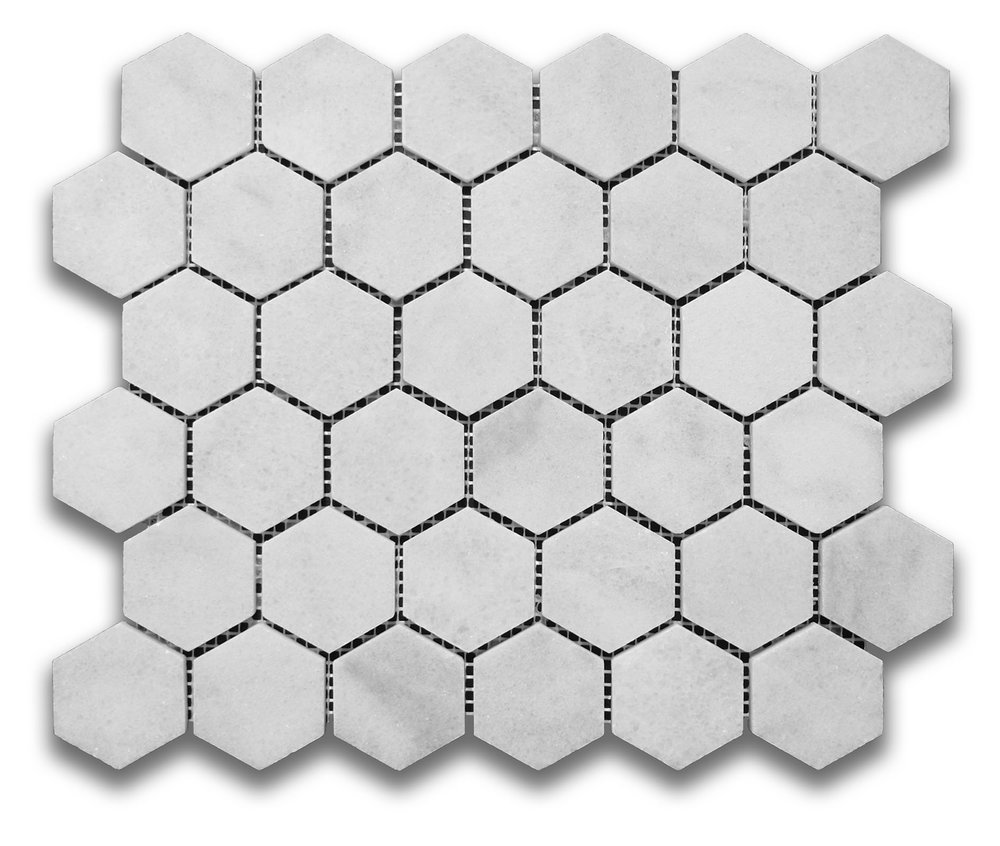 Glacier White Hexagon