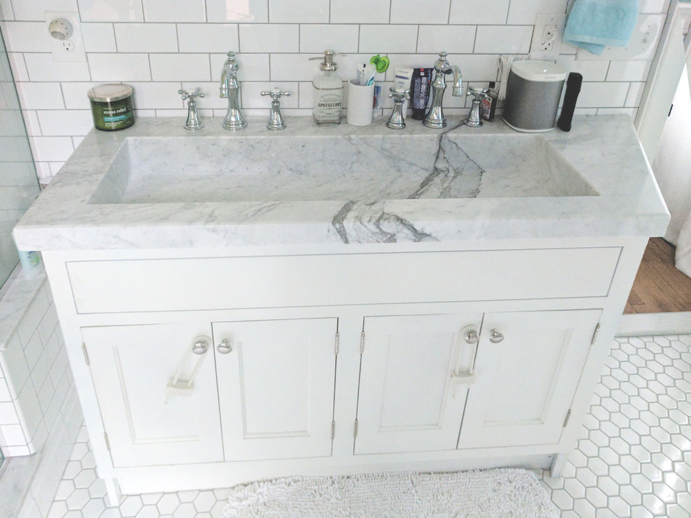 Venatino Carrara Double Sink Europa
