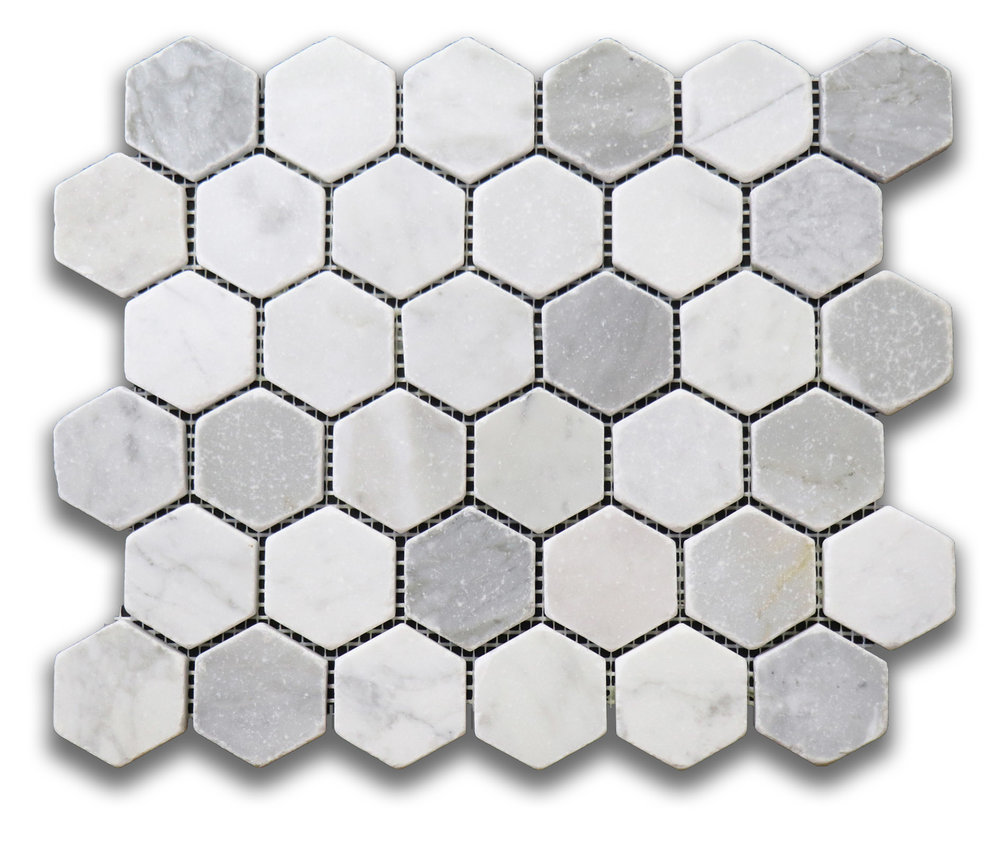 Antique Carrara Hexagon