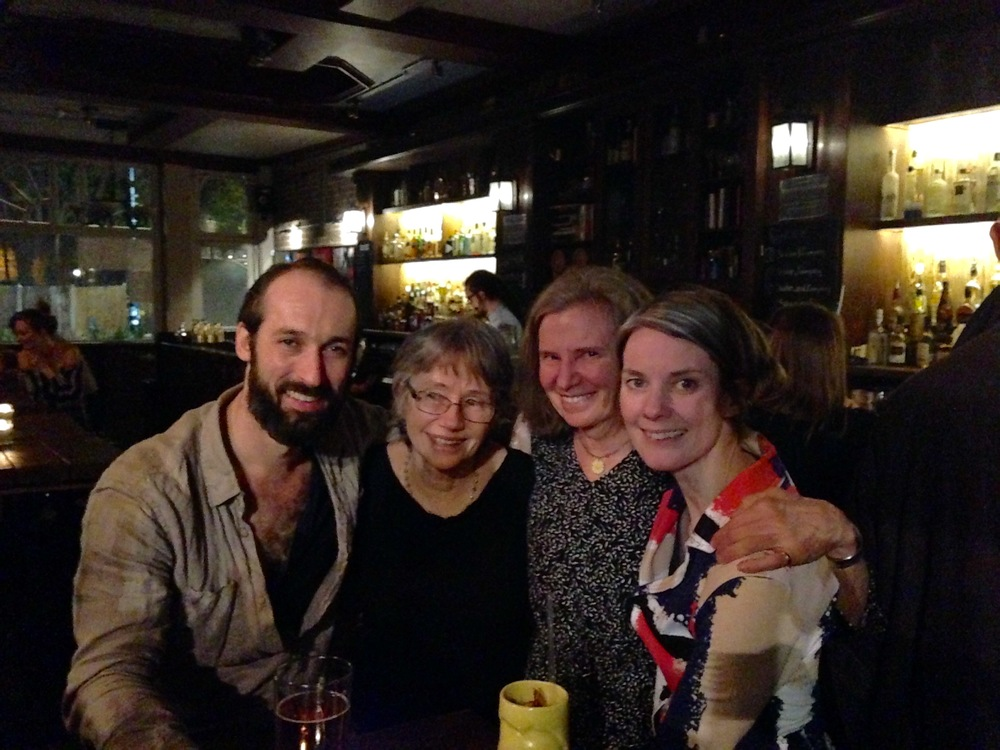 Annamarie and Kathleen (George Price's daughters) with Laura Farnworth (Director) and Adam Burton (plays George Price)