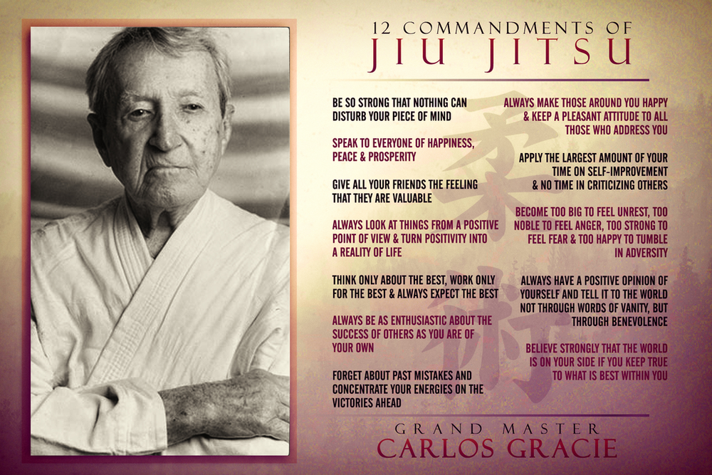 12 commandments of Gracie Jiu-Jitsu; We could all benefit from this.
