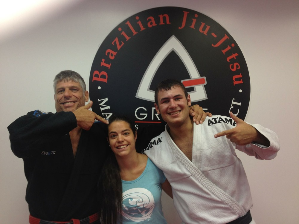 Stambowsky, Deborah and I after hard training! Notice Im sweating and he isnt ahahah