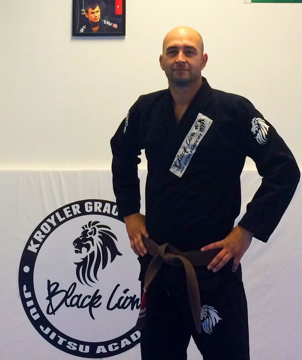 Chad Pomeroy representing Kroyler Gracie Association in Byron Center Michigan