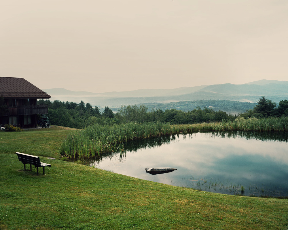 The Pond at the Trapp Family Lodge, Stowe, VT.