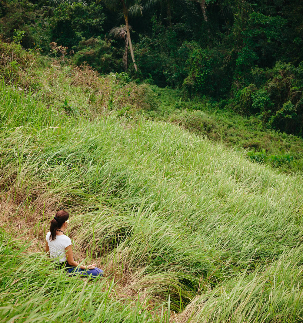 Meditating on Campuhan Ridge Walk in Ubud