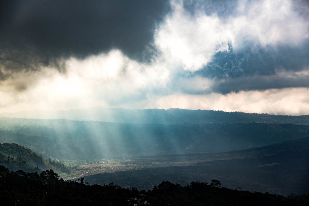 Dramatic light near Mt. Batur