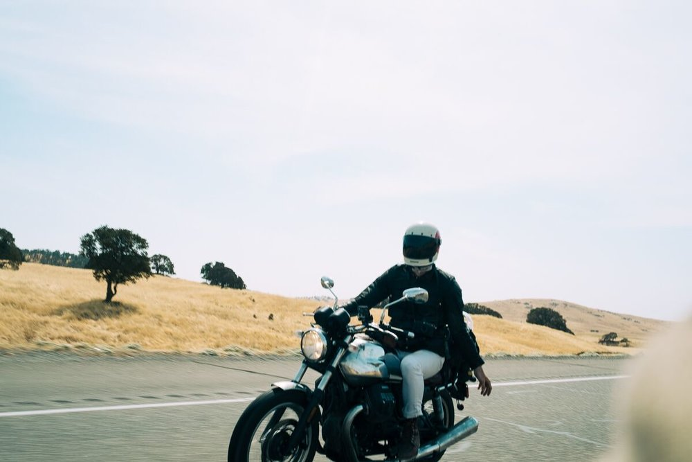 This is me on a Motorcycle in California.