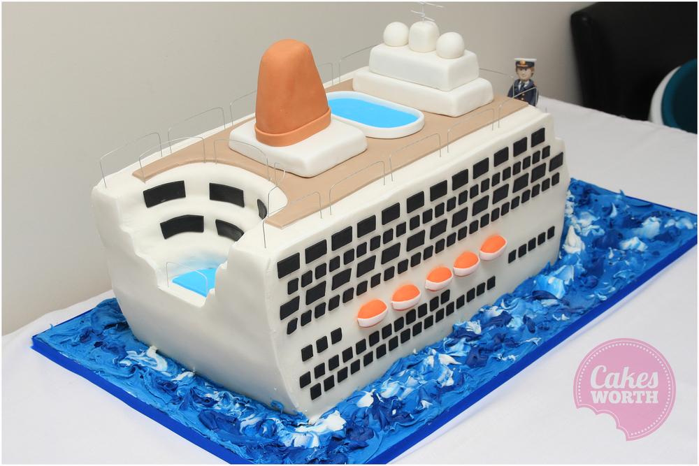 Cruise Ship CakesWorth - Cruise ship cake