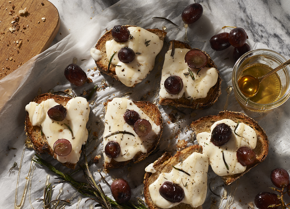Grape and Honey Tartine
