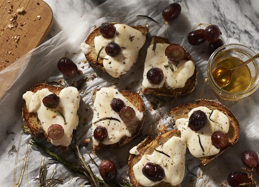 Grape and Honey Tartine