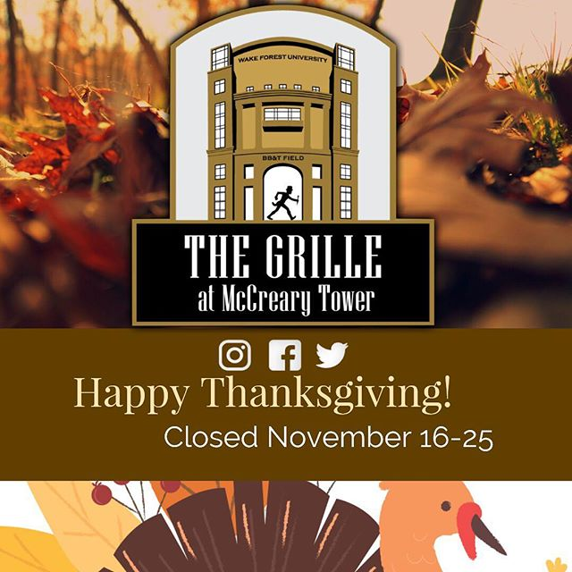 We will be closed from November 16-25.  Come check out our new Seasonal Menu coming soon!