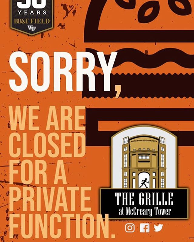 Sorry, The Grille will be closed today.  We will reopen for regular business hours on Tuesday, March 5th!