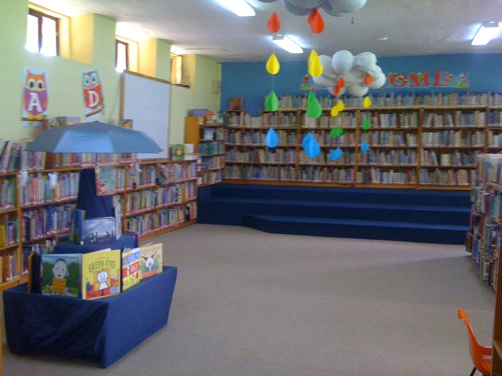 The Junior fiction area.