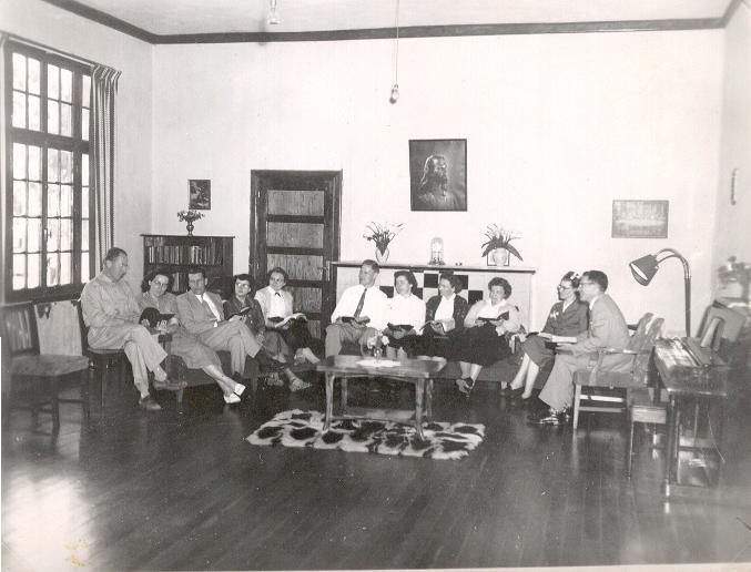 Late 1950s  Wed. night staff bible study and prayser meeting.JPG