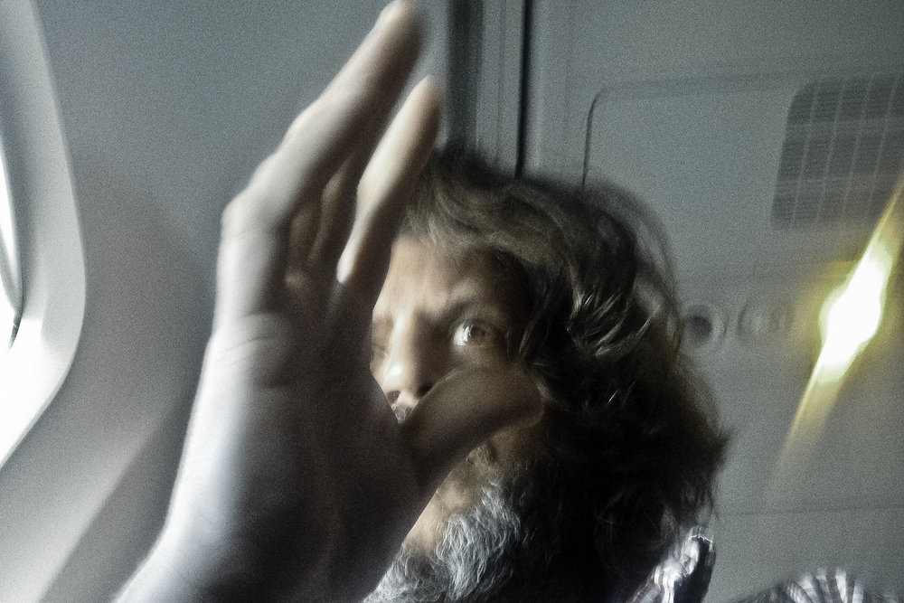 Self Portrait during flight, 2014