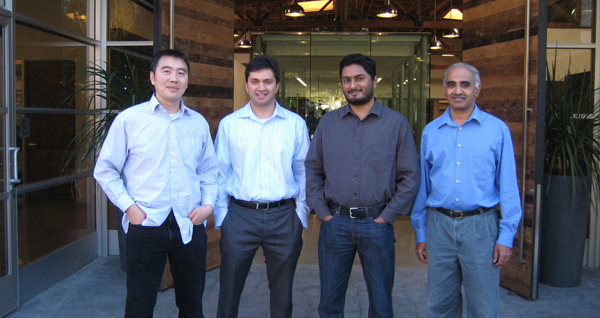 From left to right: Lebin Cheng, Sanjay Beri, Ravi Ithal, Krishna Narayanaswamy