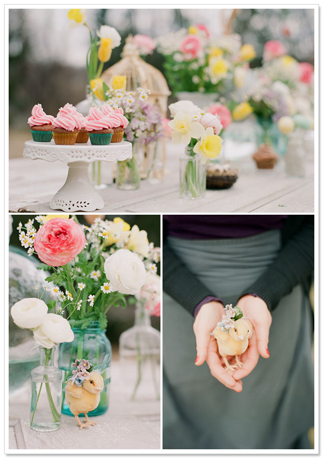 Pastel Spring Inspiration by Carmen Santorelli Photography   Erika,  borrowedandbleu.com    This pastel springtime inspiration shoot was designed for Easter, but I think the soft colors, lovely desserts and beautiful flowers would be perfect for a spring bridal shower or rustic wedding reception, too. Carmen Santorelli Photography and…