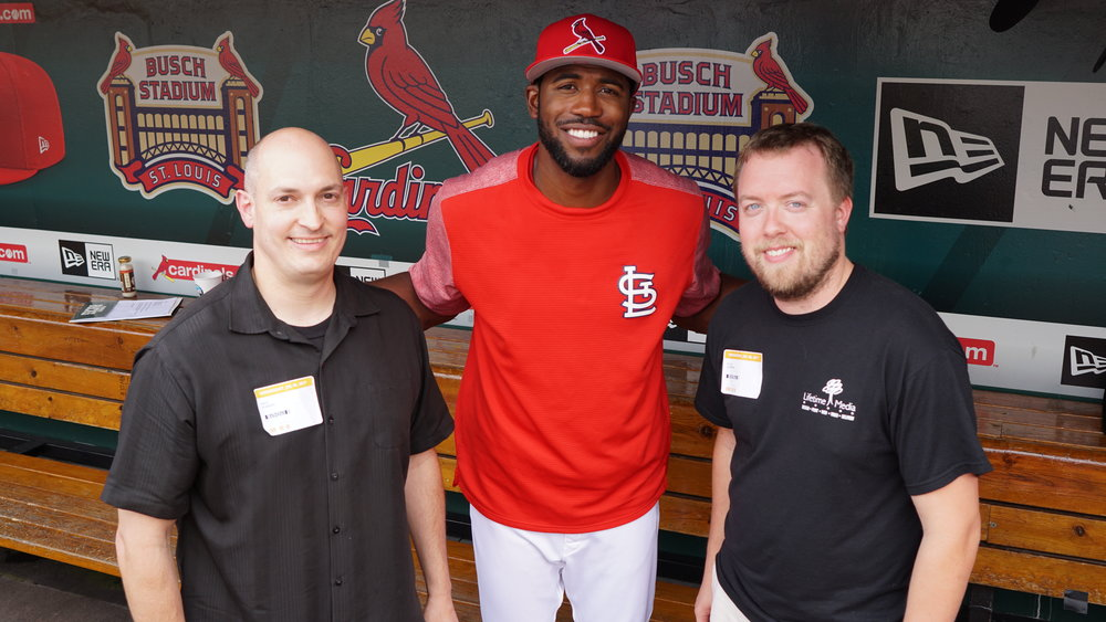 LTM team with Cardinal's player Dexter Fowler.