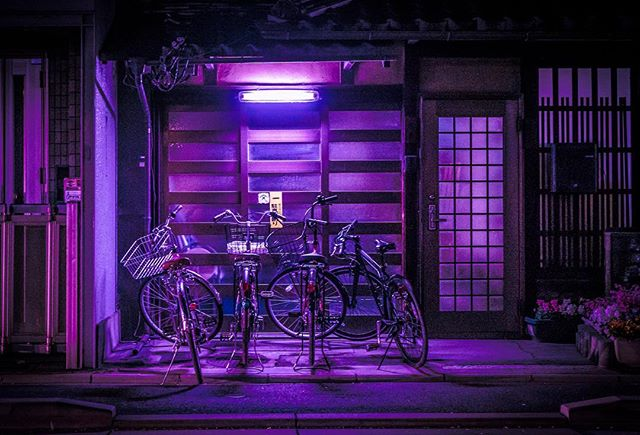Bikes just chillin. . . . . . . #kyoto#japan#shibuya#tokyo#travel#photo#architecture#building#skyline#vsco#vscocam#bladerunner#cinematography#cyberpunk#retrofuturistic#retrofuture#scifi#vscogood#vscophile#vscodaily#instadaily#outrun#retro#retrowave#bladerunner#bladerunner2049#strangerthings#cyberpunk