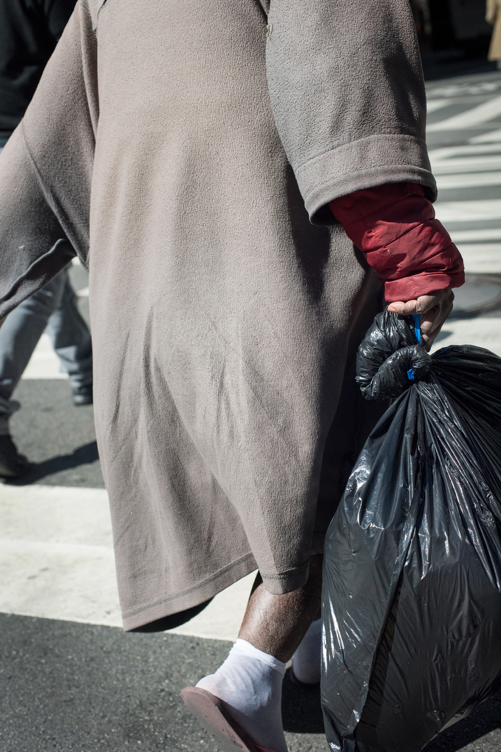 Man with Garbage Bag