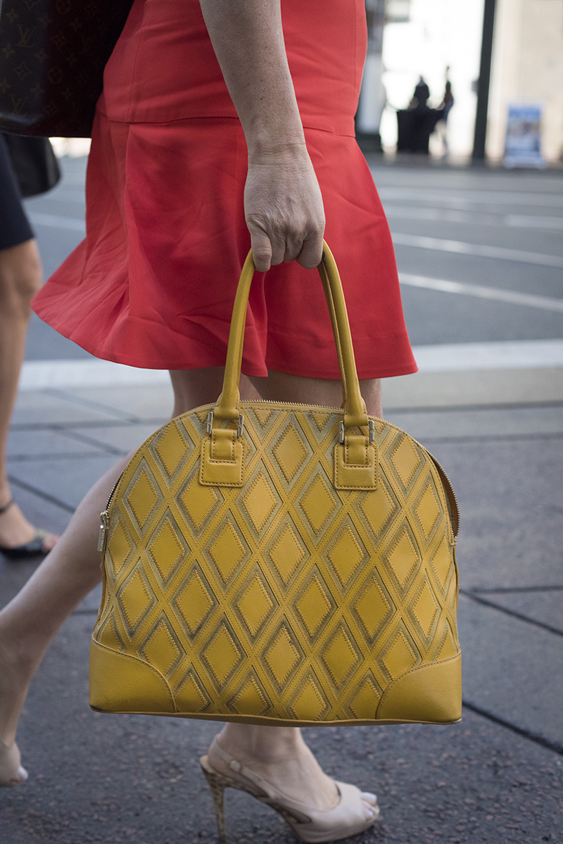 Lady with Yellow Bag