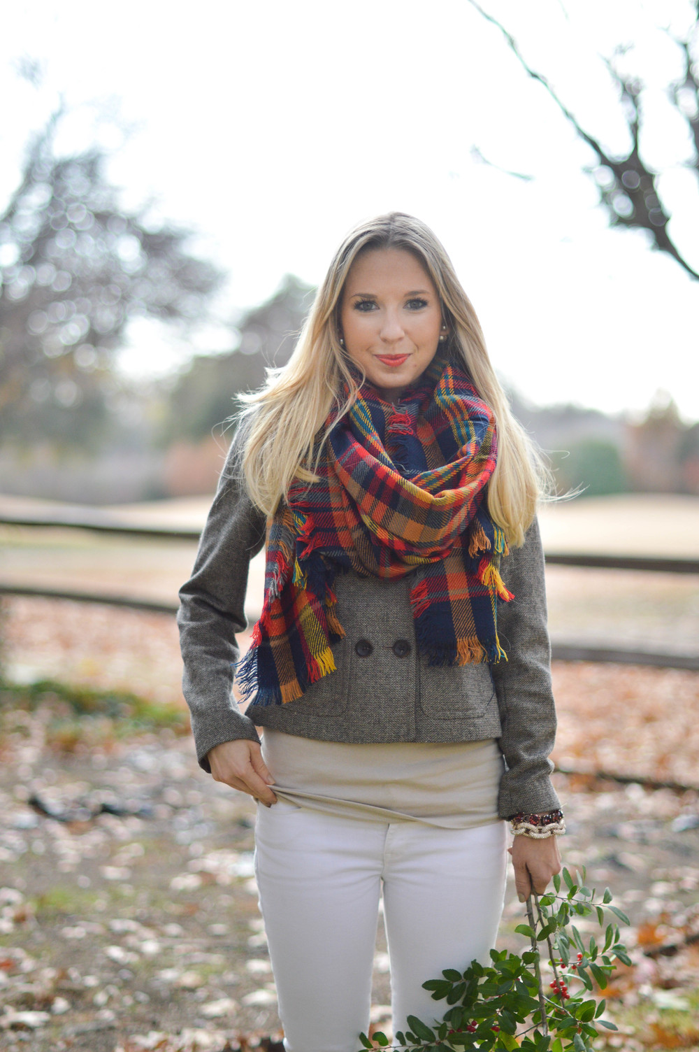 Winter White + Plaid