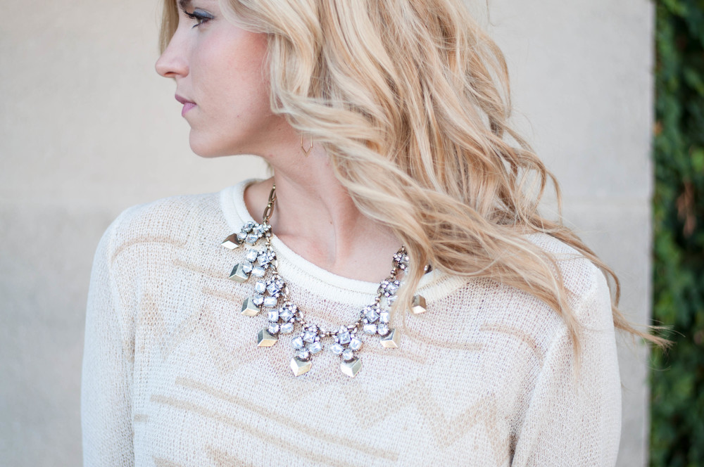 Bees Knees Loft wearing the Carmon necklace