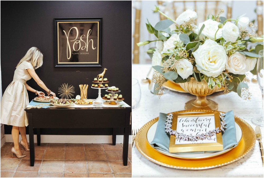 Holiday Event / Black, White, Gold
