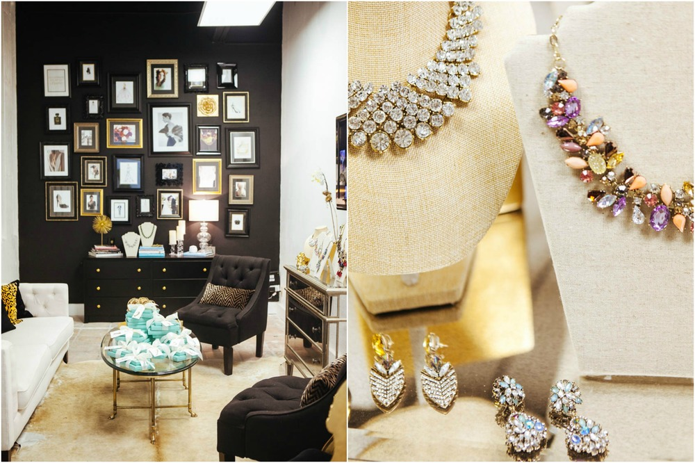 Holiday Event / Dallas Fashion Bloggers / Black, White, Gold / Statement Jewelry
