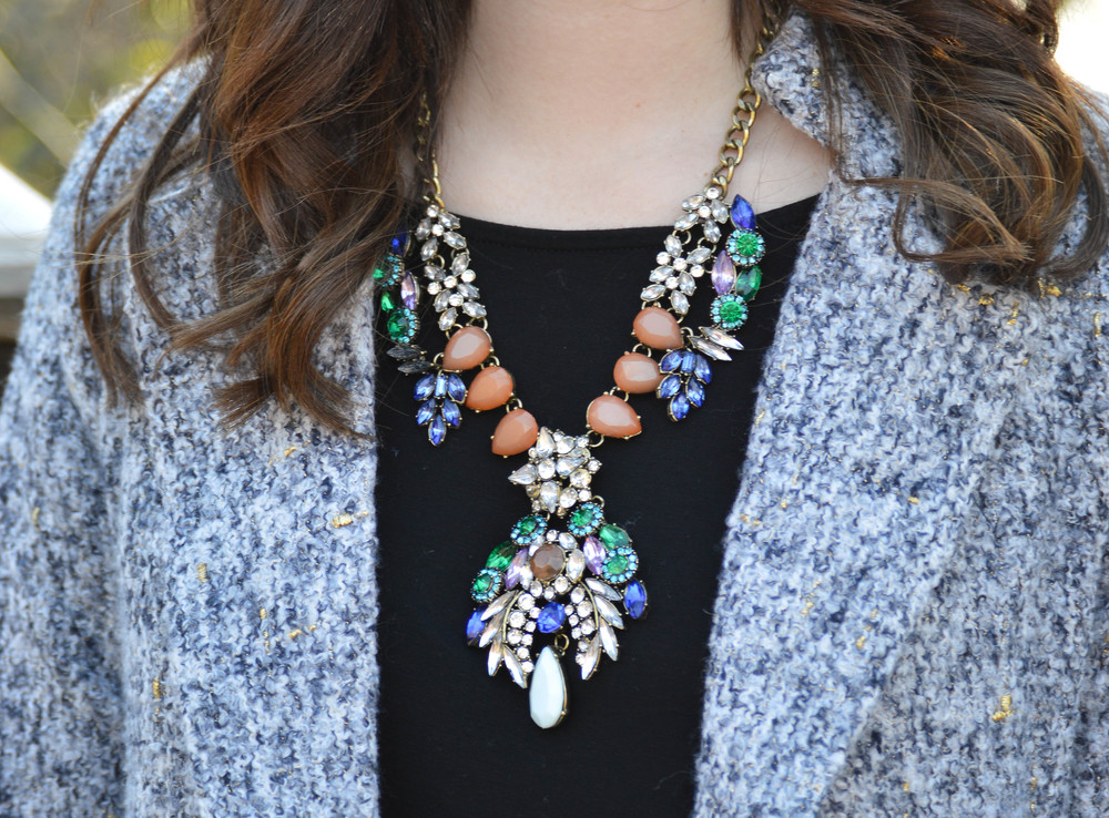 Tweed Coat / Statement Necklace / Accessory Jane / Madewell / Dallas Fashion Blogger