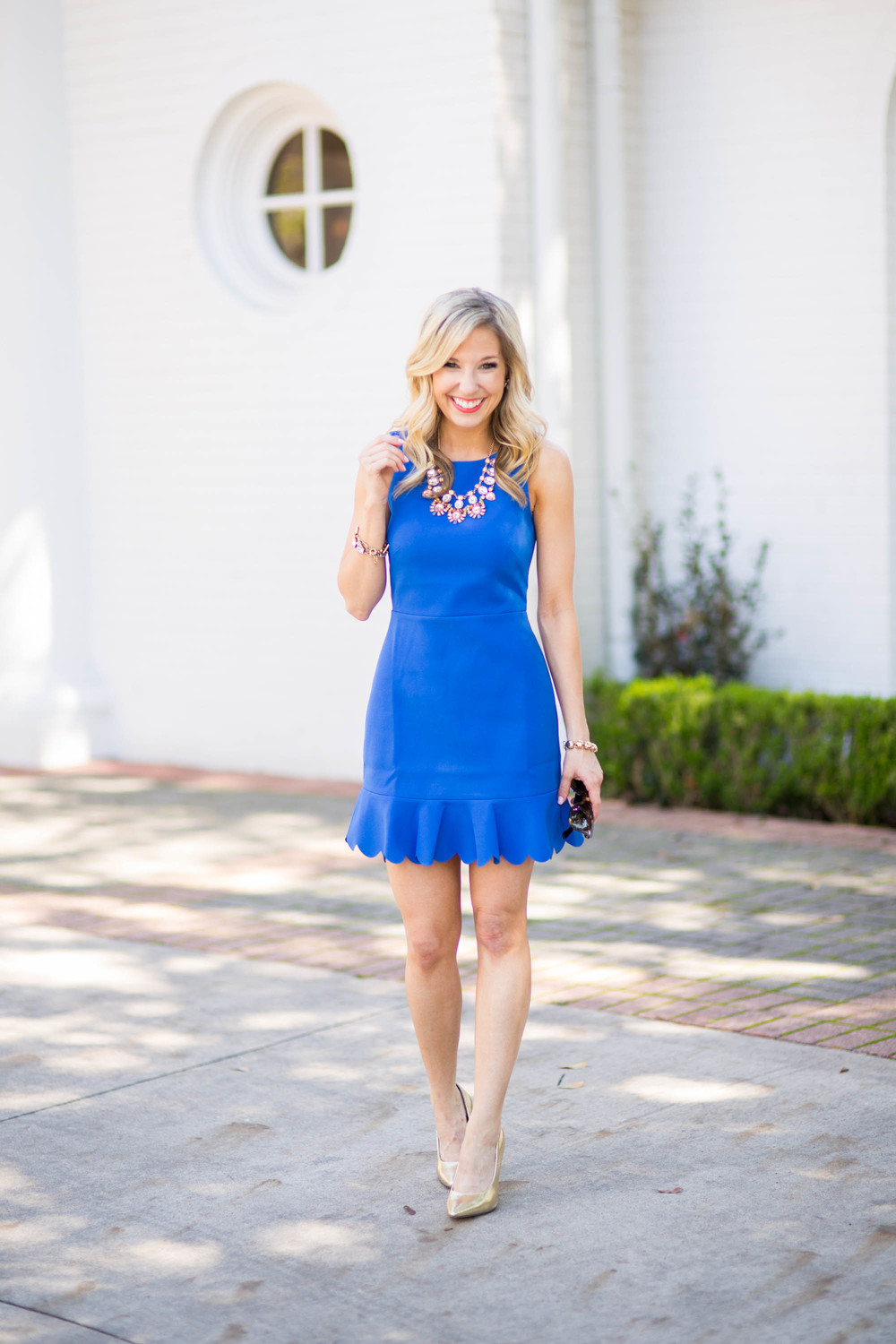 Spring Dress / J.Crew / Cocktail Dress / Statement Necklace / Accessory Jane