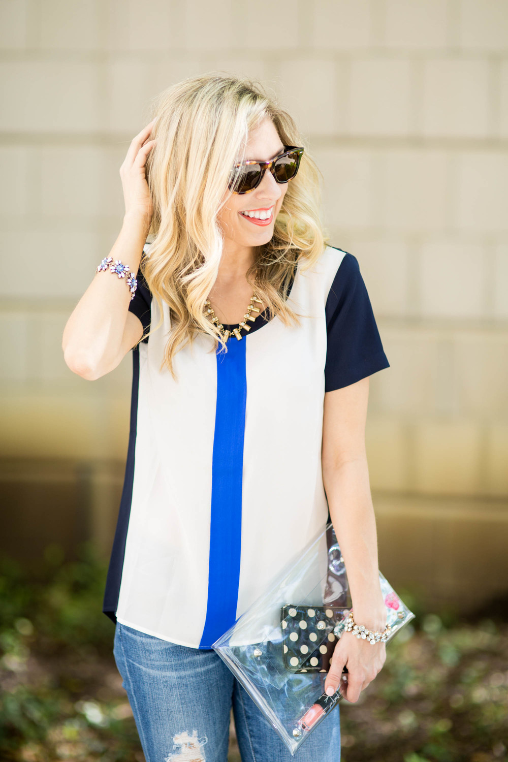 Color Blocking Tee