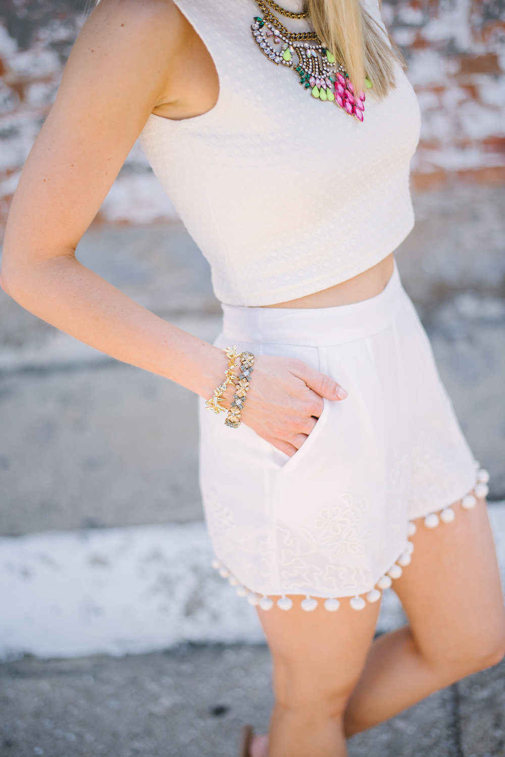 Pom Pom Shorts & Crop Top 4