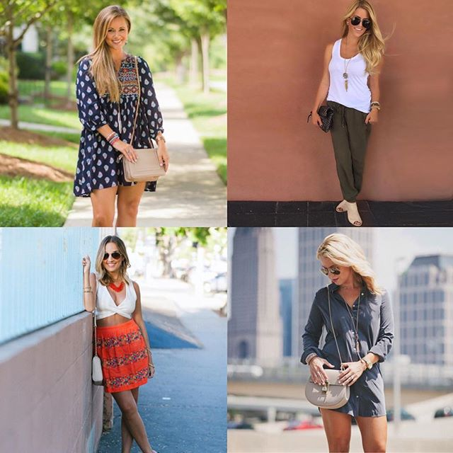 I'm so excited to introduce you to four fabulous ladies for today's #FollowFriday! I love how Instagram has introduced me to such empowering & beautiful women who daily inspire me!! I love following them & I know you will too! Meet @kbstyled: She is a beautiful momma of two with a playful style & a positive spirit that always puts a big smile on my face!! | @lipstickheelsandababy is another momma of two! She lives in Florida and has spot on beach style that always leaves me craving the beach...or at least some killer beach waves 💁🏼!! | @oliamajd is such a beautiful, free spirited fashion blogger with the most amazing beauty tips & tutorials that you definitely won't want to miss💄 | @laurenlefevre is the owner of @editbylauren and someone that I seriously look up to! Mom, business owner, knockout fashion blogger, #girlboss!! These women inspire me and have definitely all earned the title #girlboss!! ❤️