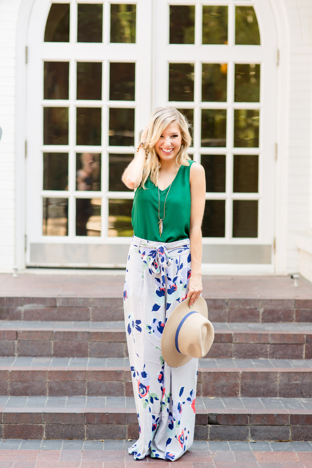 Anthropologie Floral Pants + Holly Green 5
