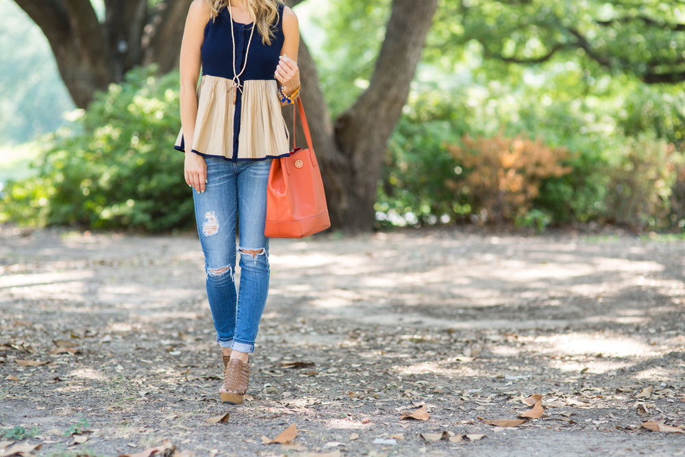 Antropologie Ripped Skinny Jeans & Tassel Necklace 2