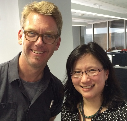 Doug Powell, Studio Lead at IBM Design, and Maria Yang in Austin, TX, May 2014