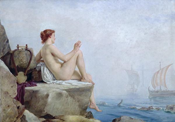The Siren, oil on canvas, Leeds Art Gallery