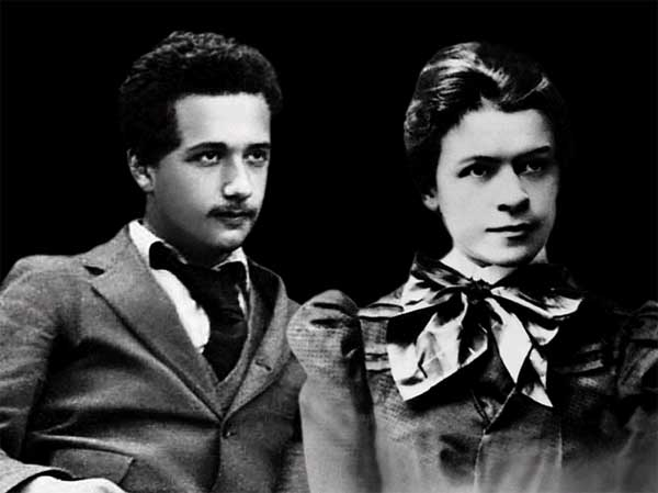 Albert Einstein and his amazing-missus.