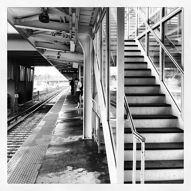 Up and away. (at CTA - UIC-Halsted Station)