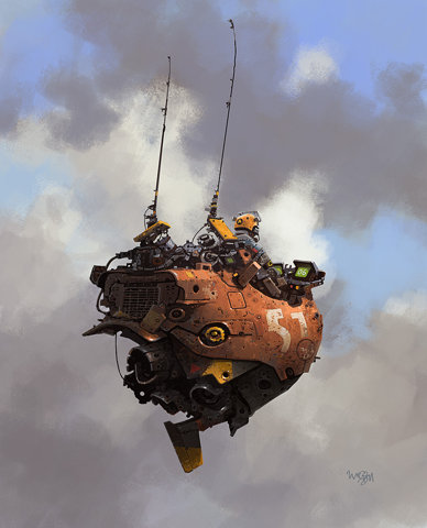 FFFFOUND! | IAN MCQUE | CONCEPT ART: Scout/Quad Track