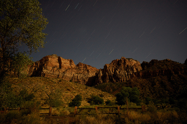 Zion Stars  on Flickr.   Zion National Park, October 2011