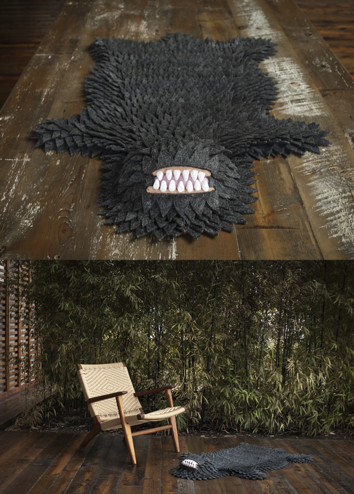 szymon: Monster Skin Rug from Longoland WANT.