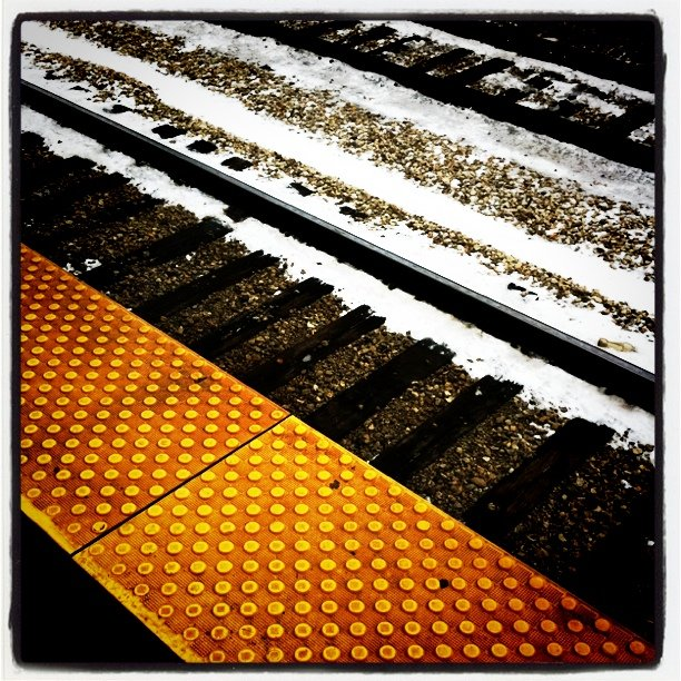 Tracks (Taken with  Instagram  at 55th - 56th - 57th Street Metra Station)
