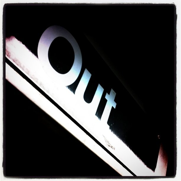 Opposite of in. (Taken with Instagram at El Stop)