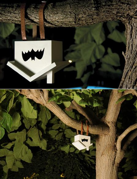 szymon: upside down birdhouse for bats by Estudio Estres Awesome.