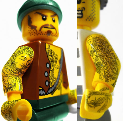 szymon: Legoman tattoo (parts of Pilot Extrafine adv)